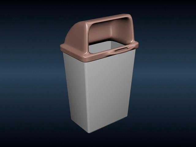 Plastic Dustbin 3d rendering