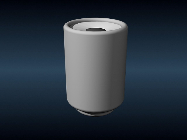 Trash Can 3d rendering