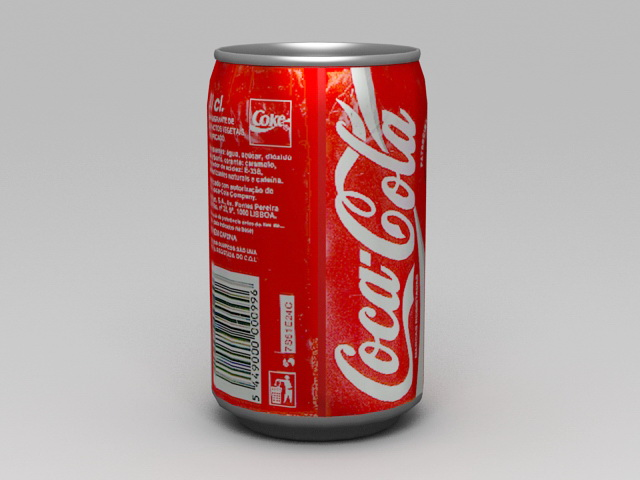 Coca-Cola Classic Can 3d rendering
