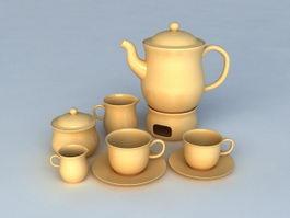 English Tea Sets 3d preview