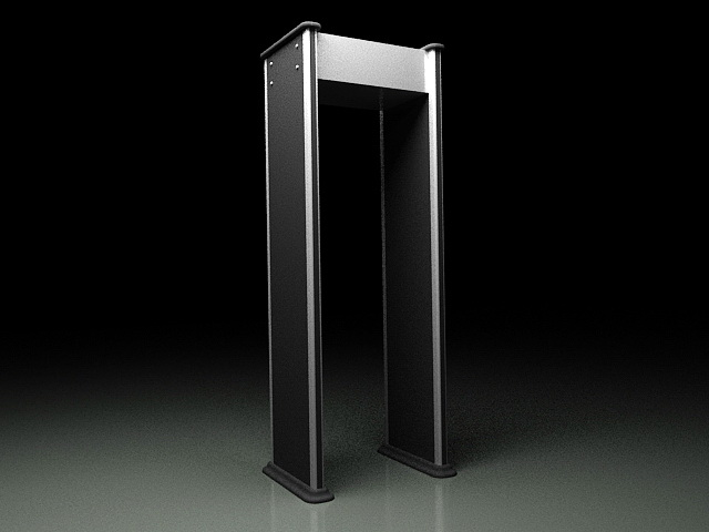 Metal Detector Gate 3d rendering