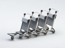 Airport Baggage Carts 3d preview