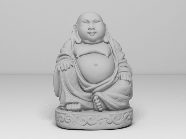 Small Buddha Statue 3d rendering