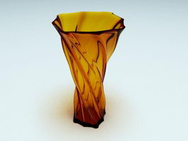 Colored Glass Vase 3d preview