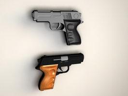 Semi Auto Pistols 3d preview