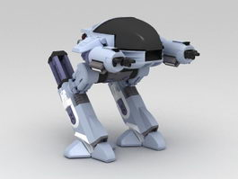 Military Walking Robot 3d model preview