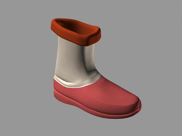 Cartoon Boot 3d rendering