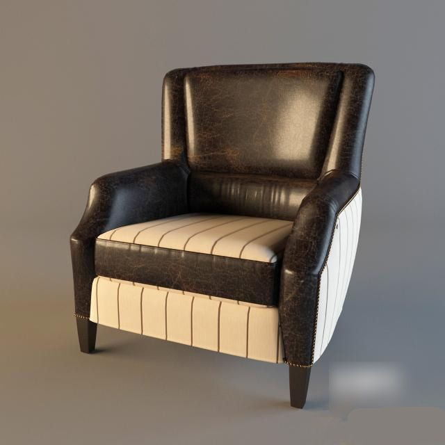 Chelsea Classic Leather Arm Chair 3d rendering