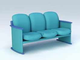 3-Seater Waiting Chair 3d preview