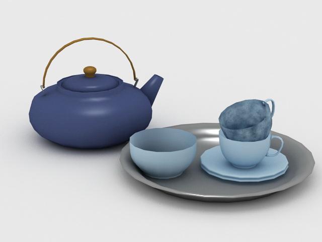 Vintage Tea Sets 3d rendering
