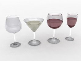 Wine Glasses 3d preview
