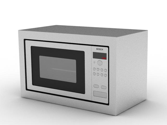 Bosch Microwave 3d rendering