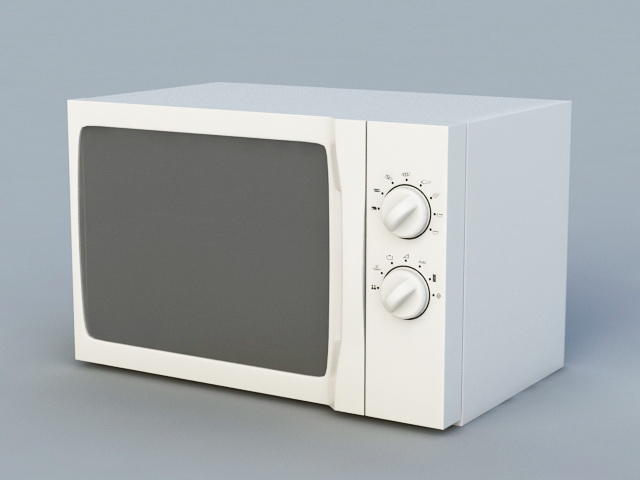 Old Microwave 3d rendering