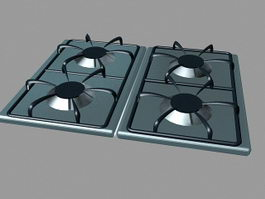 4 Burner Gas Stove 3d preview