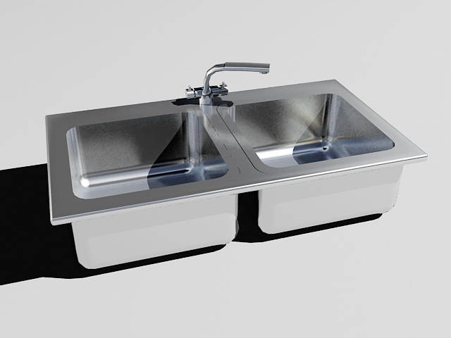 kitchen sink download stainless steel kitchen sink 3d model 3ds max files free 2678