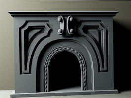 Stone Fireplace 3d preview
