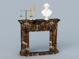 Marble Fireplace 3d preview