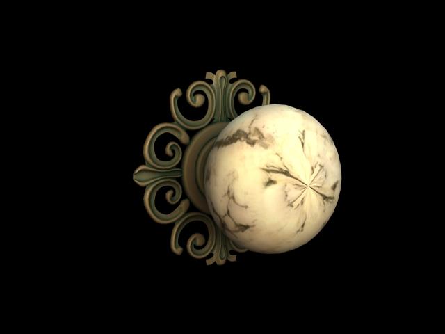 Marble Mortice Door Knob 3d rendering