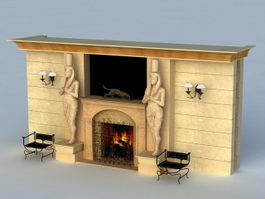 Egyptian Fireplace 3d preview