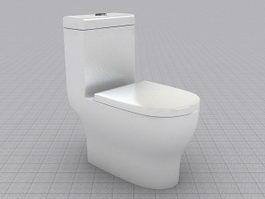 Flush Toilet 3d preview