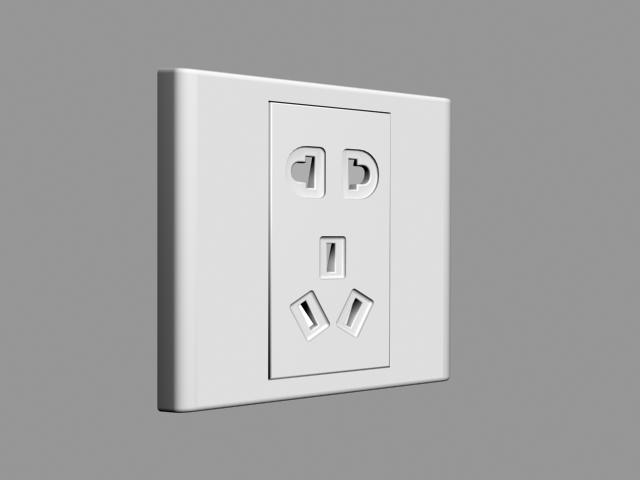 Wall Socket 3d rendering