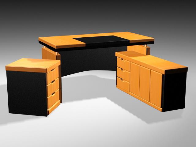 Adjustable Executive Desk 3d rendering