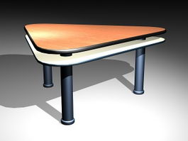 Triangle Office Desk 3d preview