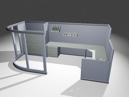 Office Furniture Cubicle Workstation 3d preview