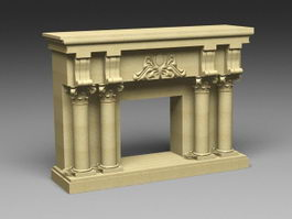 Sandstone Fireplace 3d preview