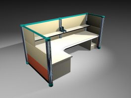 Desk Cubicles 3d preview
