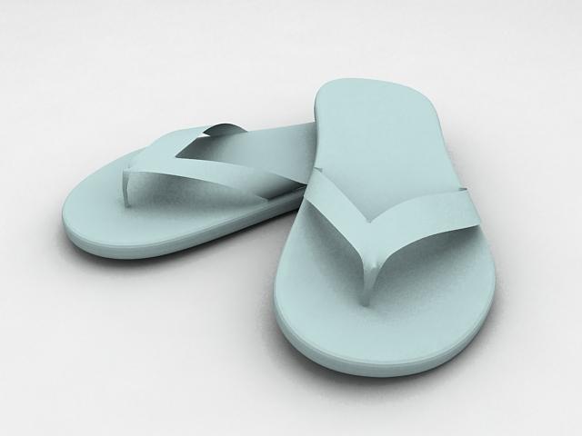 Beach Flip Flops 3d rendering