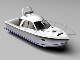 Small Yacht 3d model preview
