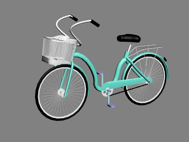 Ladies Bike 3d rendering
