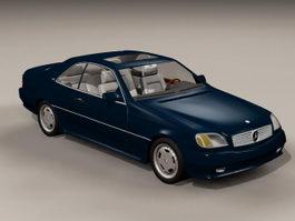 Mercedes Benz S600 3d preview