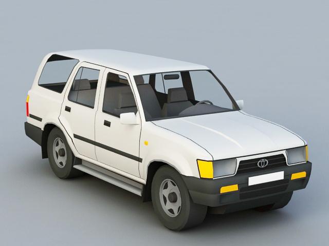 Toyota 4Runner 3d rendering