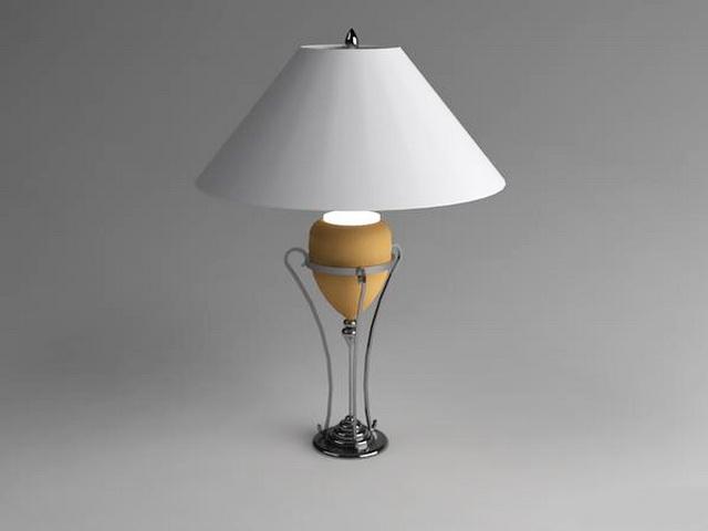 Classic Table Lamp 3d rendering