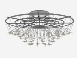 Modern Chandeliers Light Fixtures 3d preview
