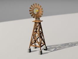 Old Windmill 3d model preview