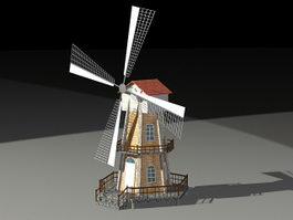 Tower Mill 3d model preview