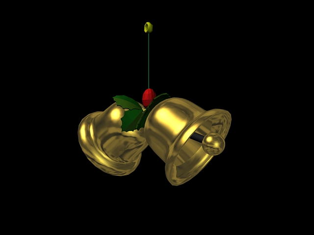 Christmas Bells 3d rendering
