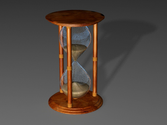 Antique Hourglass 3d rendering