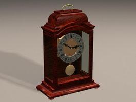 Art Deco Mantel Clock 3d model preview