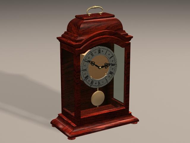 Art Deco Mantel Clock 3d rendering