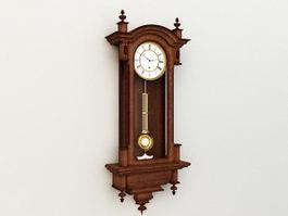 Antique Wall Clock 3d model preview