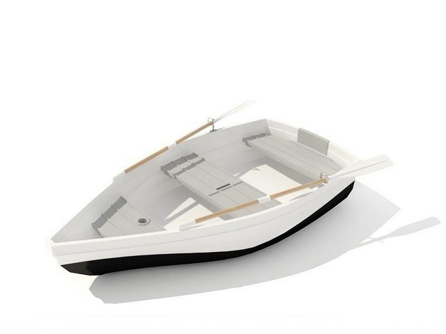 Small Fishing Boat 3d rendering
