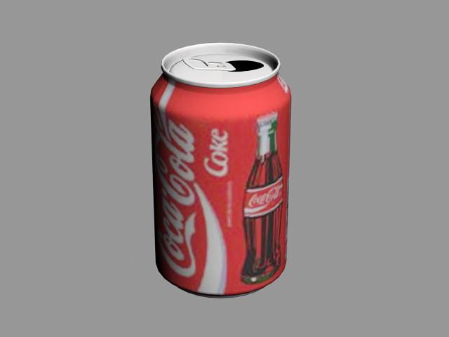 Coca-Cola Can 3d rendering