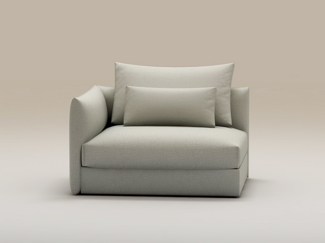 Small Sectional Sofa 3d rendering
