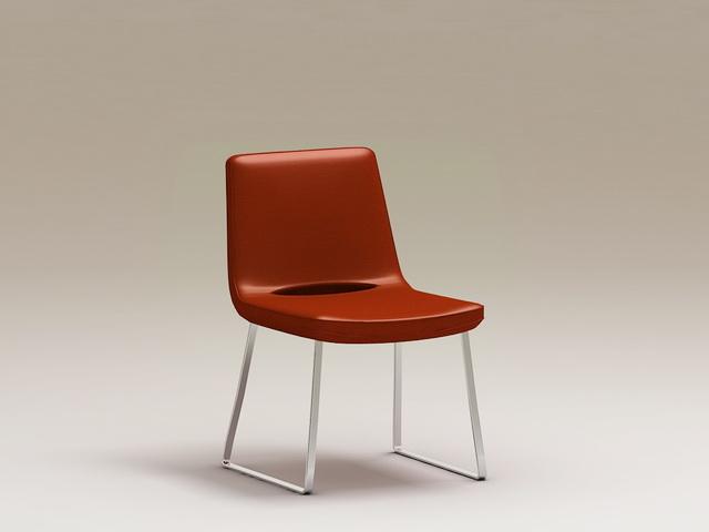 Modern Metal Chair 3d rendering