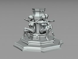 Outdoor Statue Sculpture 3d preview
