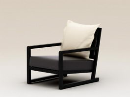 Modern Plank Armchair 3d preview